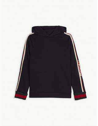 Gucci Web striped cotton hoody 4-12 years
