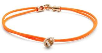 Luis Morais Double Wrap Skull Bracelet - Mens - Orange