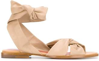 Santoni knot detail flat sandals