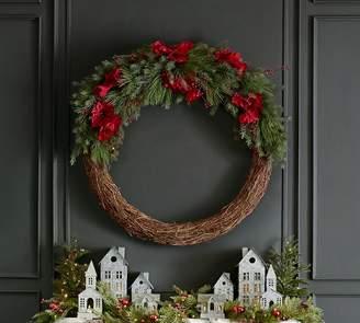 Pottery Barn Faux Amaryllis Berry 47'' Wreath