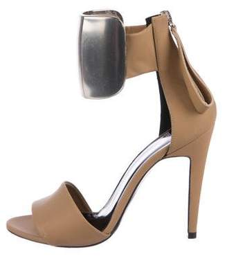 Pierre Hardy Leather Ankle-Strap Sandals