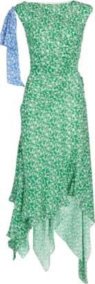 Tanya Taylor Carita Ditsy Floral SIlk Dress