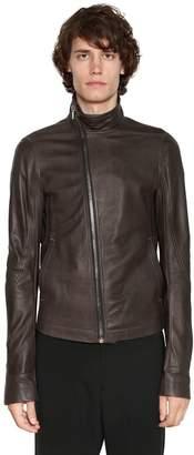 Rick Owens Mollino Zip Leather Biker Jacket