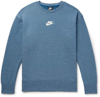 Nike Sportswear Heritage Mélange Loopback Cotton-Blend Jersey Sweatshirt