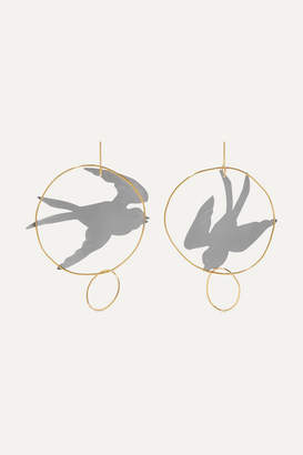 J.W.Anderson Gold And Silver-tone Earrings - one size