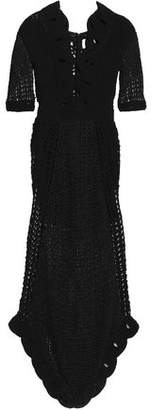 Alice McCall La La Lady Cutout Metallic Crocheted Maxi Dress