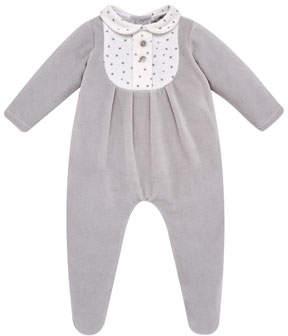Carrera Pili Footie Pajamas w/ Tuxedo Placket, Size 1-6 Months