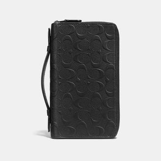 COACH Coach Double Zip Travel Organizer In Signature Crossgrain Leather $325 thestylecure.com