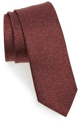 Men's Lanvin Solid Silk Skinny Tie $140 thestylecure.com