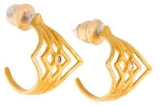 Gurhan 22K Opkapi Diamond Hoop Earrings