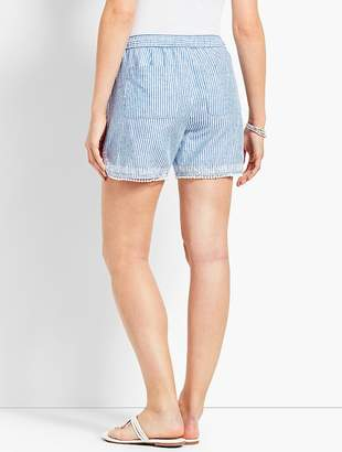 "Talbots 5"" Stripe Linen Short"