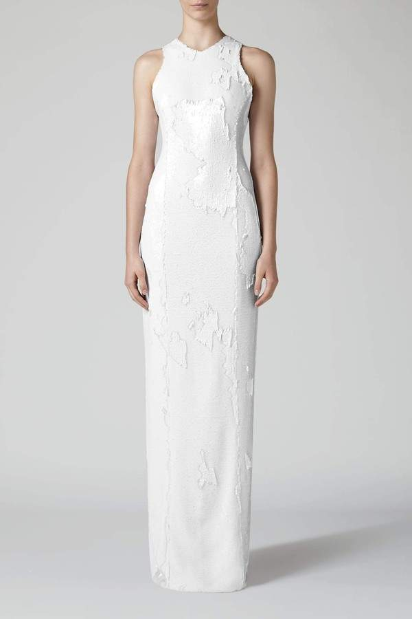 Galvan Galvan | Salar Column Dress - White | L