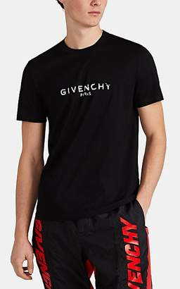 Givenchy Men's Logo Cotton T-Shirt - Black