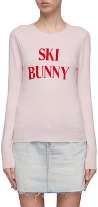 Frame 'Ski Bunny' slogan intarsia wool-cashmere sweater