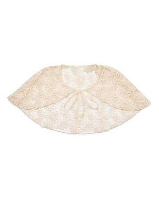Fashion World Ribbon And Asher Flower Lace Cape