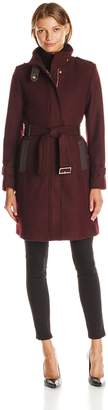 Cole Haan Women's Stand Collar Wool Coat