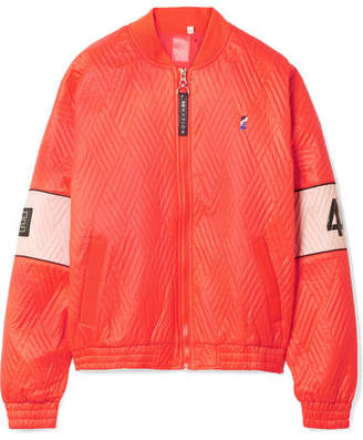 P.E Nation The Ice Breaker Printed Quilted Shell Bomber Jacket - Papaya