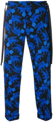 Christian Pellizzari printed cropped trousers