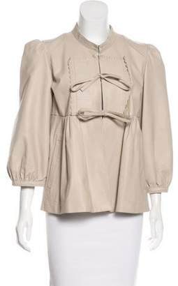 Barbara Bui Bui by Embellished Leather Jacket