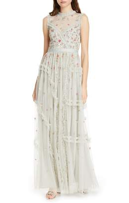 Needle & Thread Shimmer Floral Evening Dress