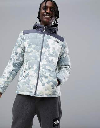 The North Face La Paz Hooded Jacket in Macrofleck Print