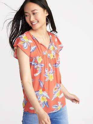 Old Navy Relaxed Flutter-Sleeve Top for Women