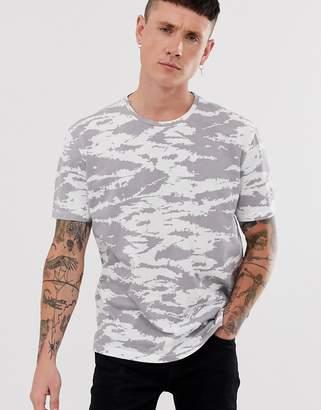 AllSaints t-shirt with camo print