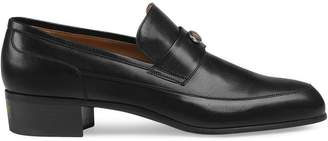 Gucci Leather loafers with Team motif