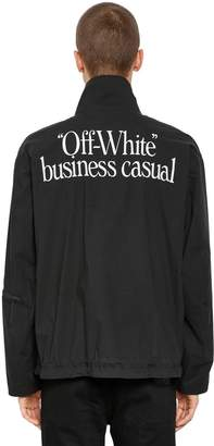 Off-White Off White Business Casual Zip Lightweight Jacket