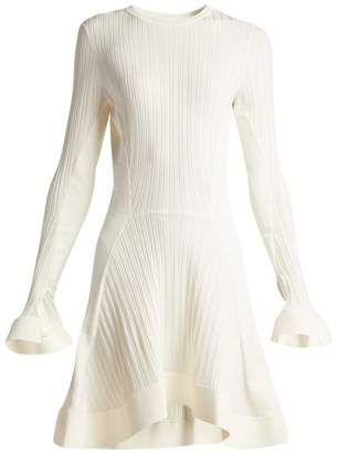 Esteban Cortazar Rib Knit Fluted Midi Dress - Womens - Ivory