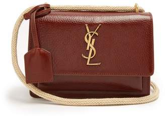 Saint Laurent - Sunset Small Leather Cross Body Bag - Womens - Tan
