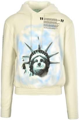 Off-White Off White Flecce Hodded Liberty