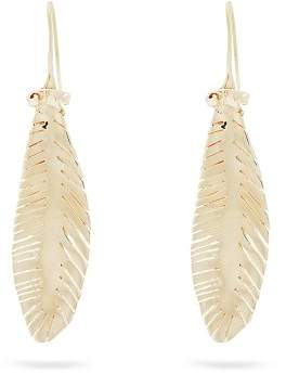 Valentino Leaf Drop Earrings - Womens - Gold