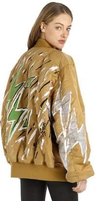 Alpha Industries Copperwheat Ma-1 Nylon Flight Jacket