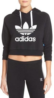Women's Adidas Originals Crop Hoodie $60 thestylecure.com