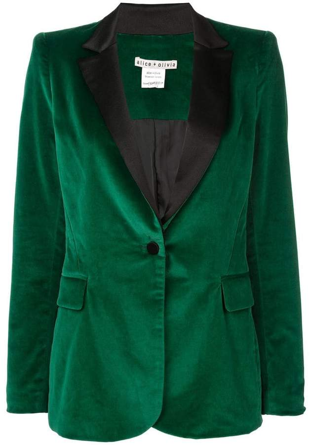 Alice+Olivia Macey fitted blazer