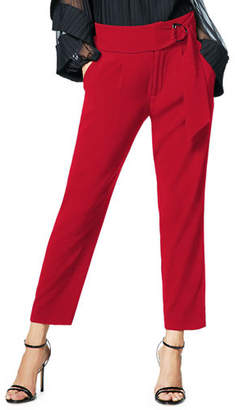 Ramy Brook Hudson Belted Straight-Leg Pants
