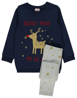 George Rudolph Top and Leggings Christmas Outfit