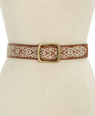 Inc International Concepts Floral Embroidered Belt, Only at Macy's $34.50 thestylecure.com