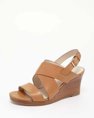 Cole Haan (コール ハーン) - Cole Haan Women PECAN LEATHER PENELOPE WEDGE