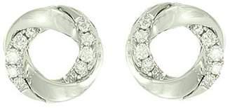 Frederic Sage 18K White Gold Mini Halo Diamond Stud Earrings