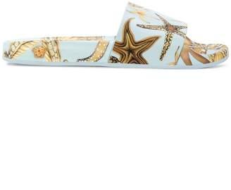 Versace seashell printed slippers