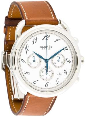 Hermes Arceau Chronographe White Steel Watches