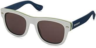 Havaianas Men's Brasil/M Y1 16Q Sunglasses, White Blue Grey