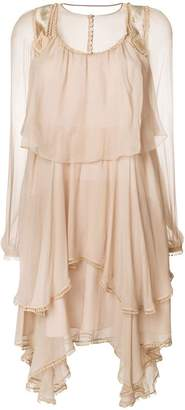 Chloé ruffled chiffon mini dress