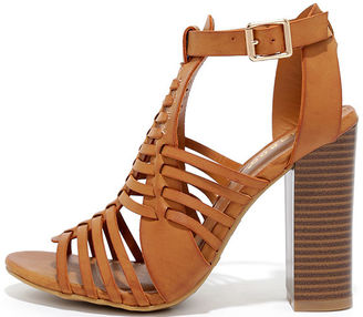 Through My Mind Natural High Heel Sandals $39 thestylecure.com