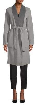 Soia & Kyo Tie-Waist Long Coat
