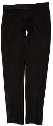 Pallas Satin-Accented Tailored Pants w/ Tags