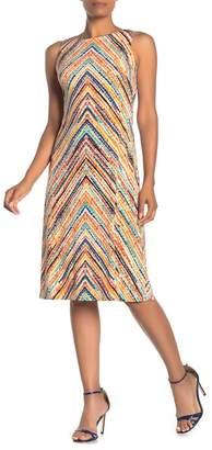 Eliza J Chevron Print Sleeveless Sheath Dress