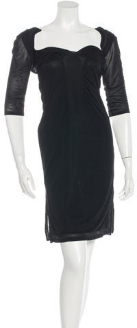 Gucci Gucci Cutout-Accented Sheath Dress
